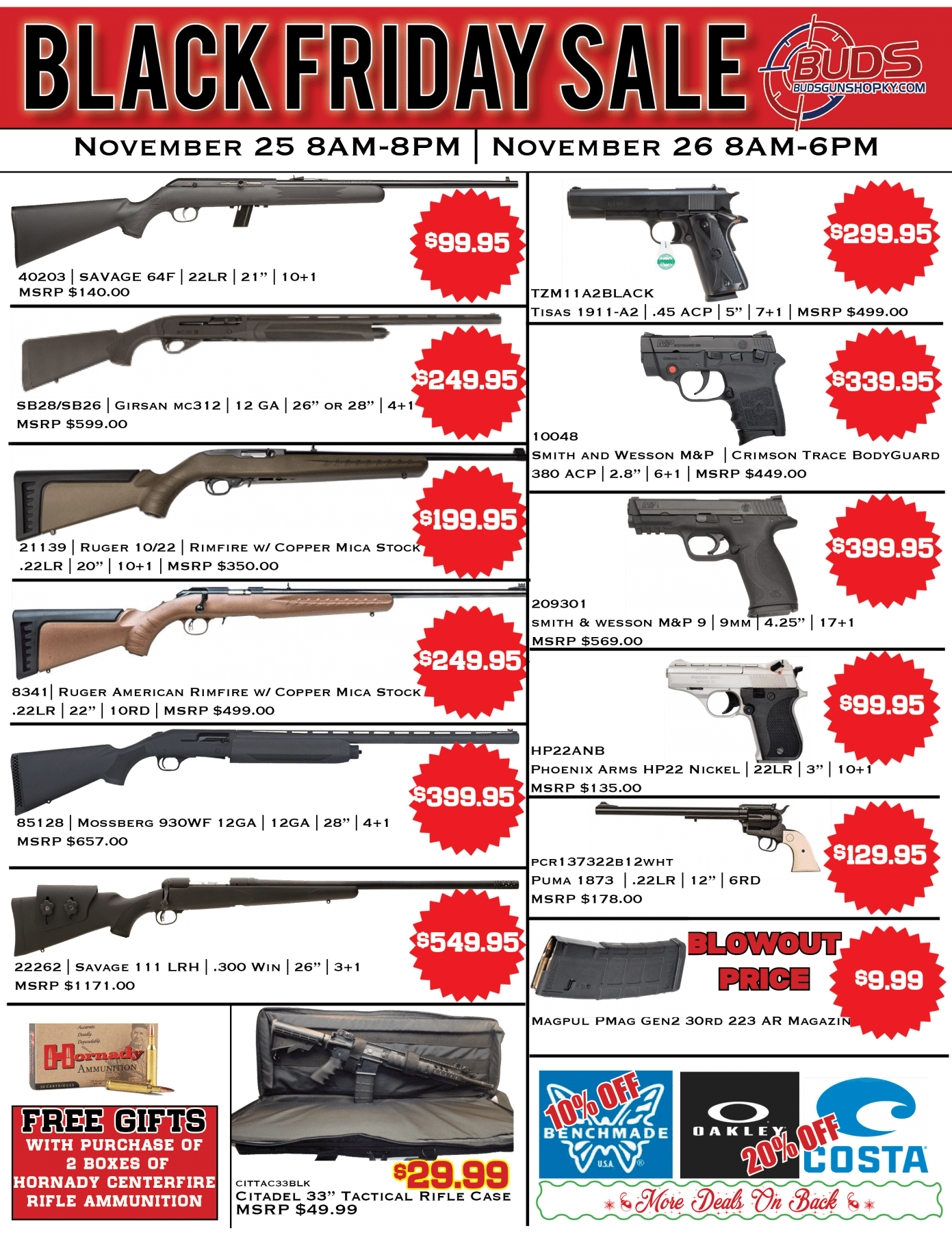 buds gun shop coupon code