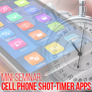 Cell phone shot-timer apps